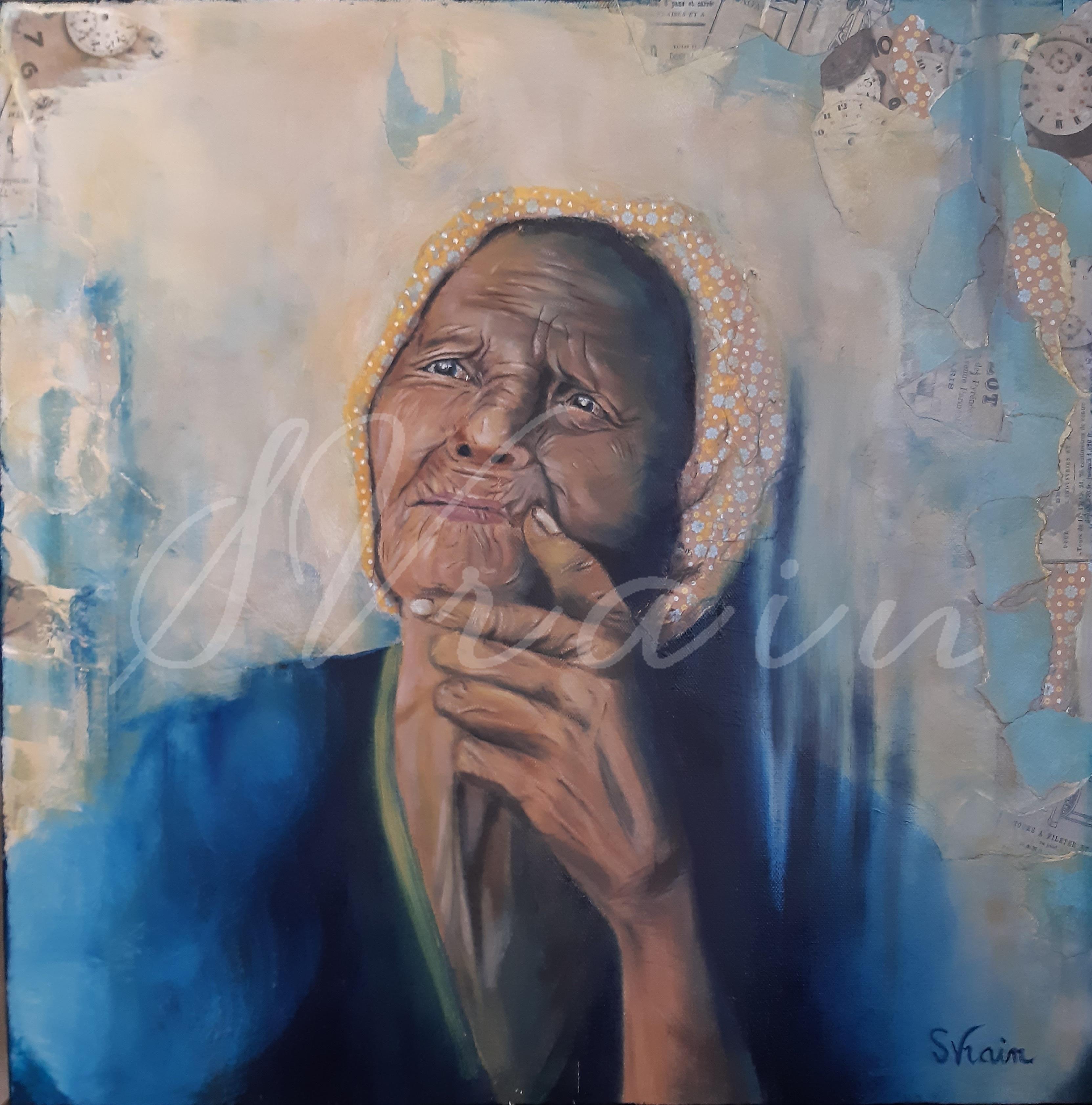 regard de vieille femme